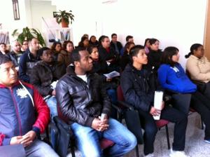 """Jornada informativa sobre el proyecto """"Travesía"""" realizada a finales de febrero de 2013."""