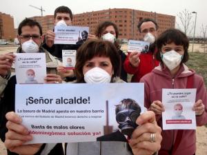 Vecinos del PAU de Vallecas, en una protesta de la época de Alberto Ruiz-Gallardón en la alcaldía de Madrid.