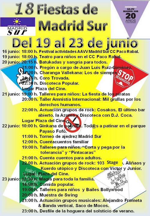 Cartel Fiestas Madrid Sur 2013
