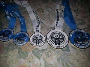 Medallas conseguidas en el campeonato mundial por la campeona vallecana.