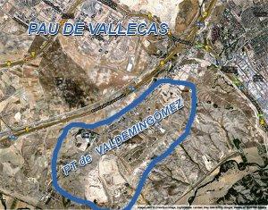 Mapa relación Valdemingomez y el PAU de Vallecas