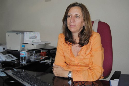 La Coordinadora del CMS Villa de Vallecas, en su despacho. /FOTO: R.B.T.