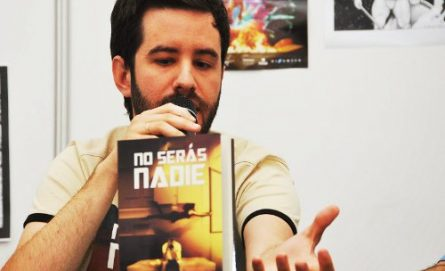Alberto, presentado su última novela en el Festival Celsius de Avilés. /FOTO: José Luis Gonzáles