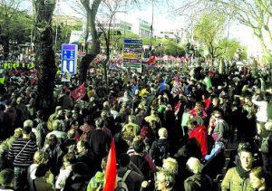 """""""Las marchas de la dignidad han señalado el camino"""". /FOTO: Marchas de la Dignidad"""