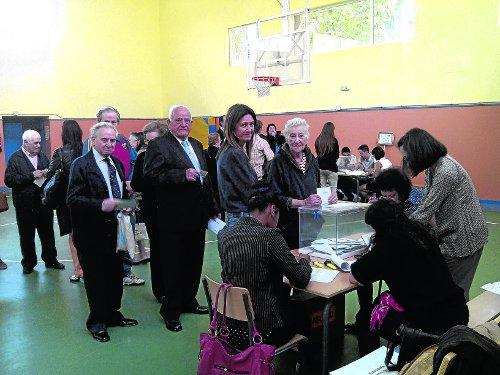 Colegio electoral en Vallecas durante las pasadas elecciones europeas. /FOTO: J.A.R.