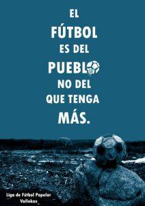 Cartel de la Liga de Fútbol Popular