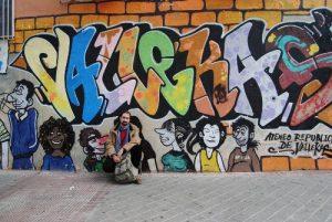 """Figueroa, en el """"muro de los alemanes"""". /FOTOS: R.B.T"""