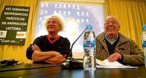 Rafael Álvarez, 'El Brujo', y Antonio Albarrán, de Vallecas Todo Cultura. /V.T.C.