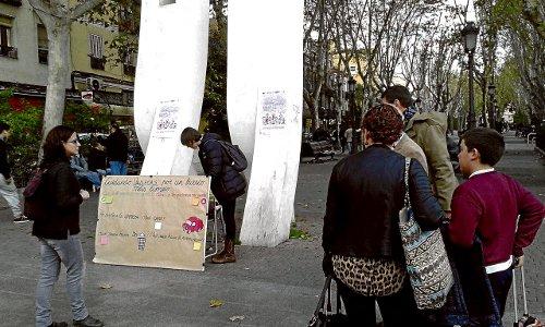 La actividad tuvo lugar en el Bulevar de Vallecas. /Asoc. Provivienda