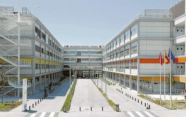 Entrada al Hospital Infanta Leonor. /Madrid Salud