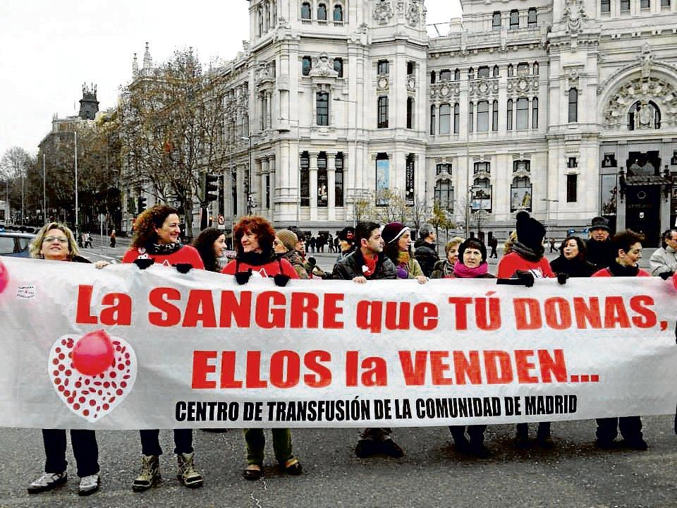 os trabajadores llevan un año haciendo visible este feo asunto. /ADECETMA Madrid