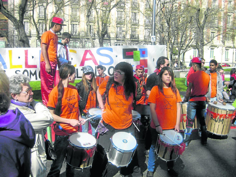 Movilización el año pasado en el paseo de Recoletos.