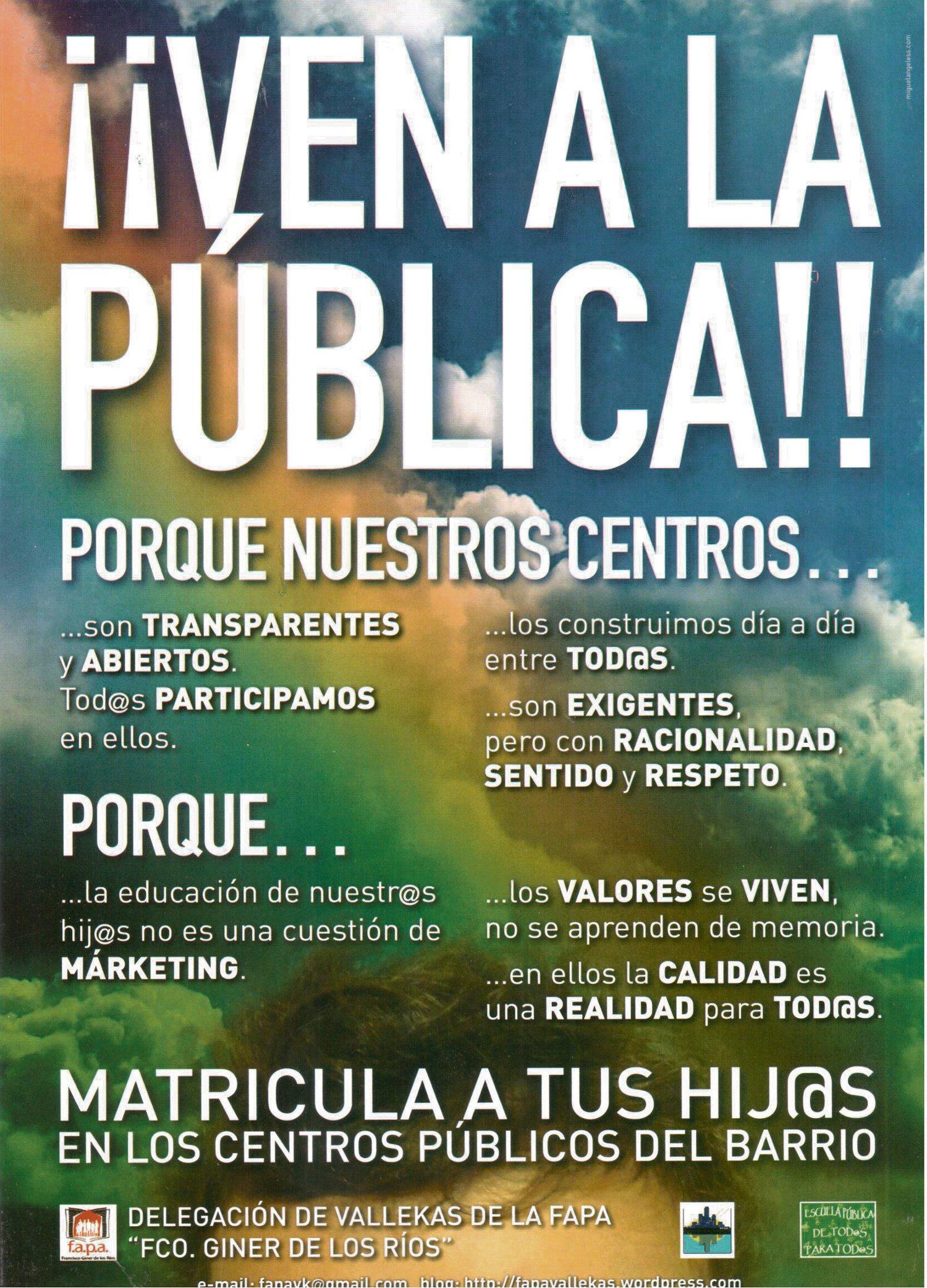 ¡Ven a la pública!
