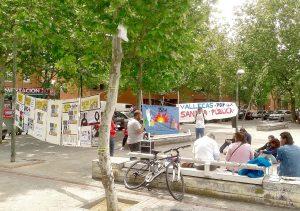 Acto conjunto con otros colectivos, en el marco de Vallecas Calle del Libro, para celebrar el Día del Libro el 23 de abril.