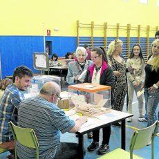 Colegio electoral en Vallecas.