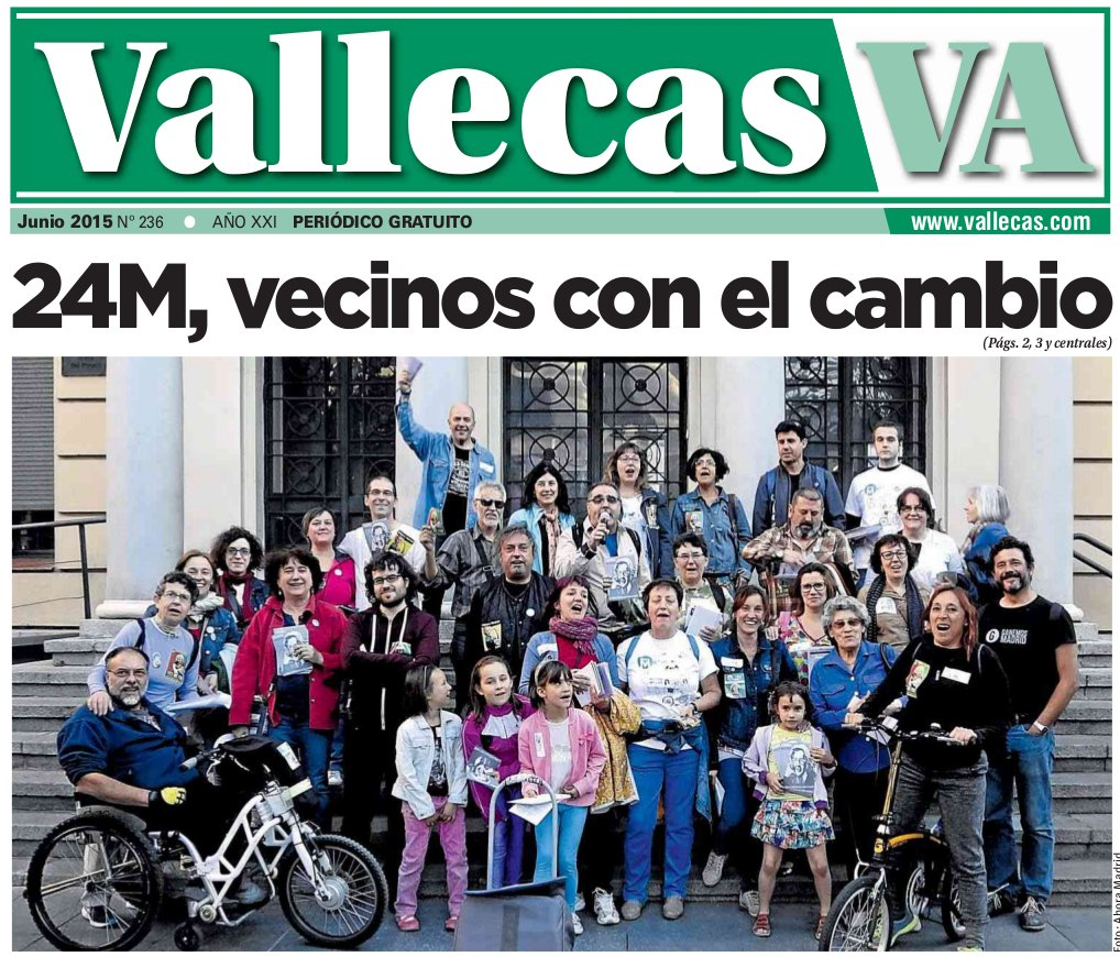 Portada Vallecas Va, junio 2015