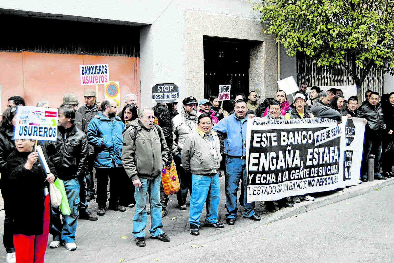 """Un """"stopdesahucios"""" en Vallecas."""