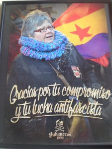 Homenaje de Bukaneros a Amparo Hermoso