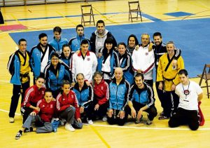 Alineación del club TKD Azofra en el torneo pamplonica.