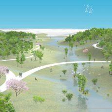 Proyección del futuro parque de la Gavia.
