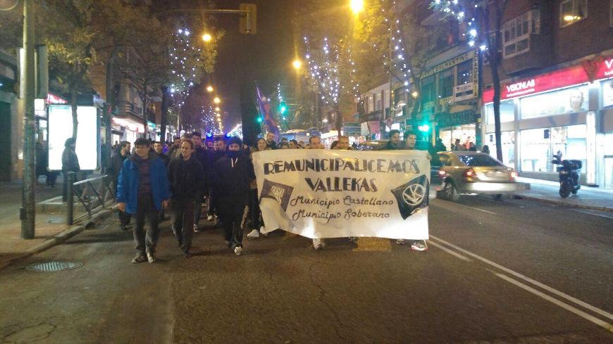 Manifestación por la re-municipalización de Vallecas.