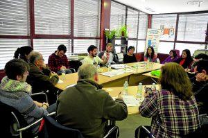 Mesa de trabajo de los estados generales de Villa de Vallecas.