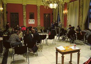 Dinámica por grupos en el taller participativo del 17 de marzo.