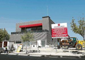 Obras del nuevo instituto del Ensanche de Vallecas.