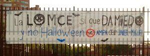 """""""La LOMCE da más miedo que Halloween"""""""