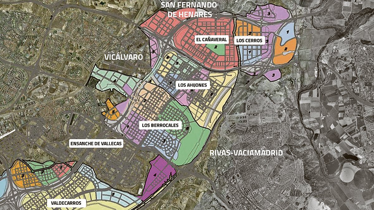 Macrodesarrollos en la zona Sureste de Madrid.