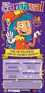 Cartel oficial, Carnaval de Vallecas 2017.