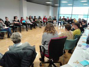 El evento fue organizado por la Mesa de Educación del Foro Local de Puente de Vallecas.