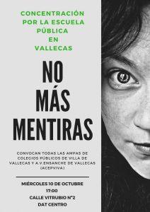 Concentración de los colegios públicos en Vallecas