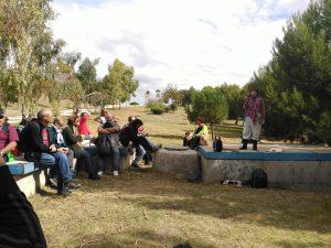 Parque forestal de Valdebernardo. Asistimos a una maravillosa teatralización de la vida de Maruja Mallo